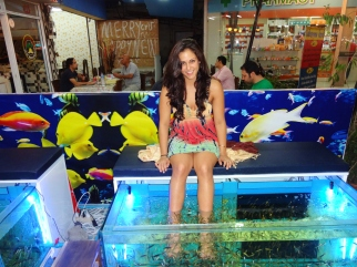 The fishies eating my feet!