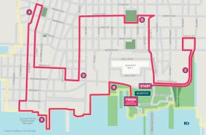 Newport 10k Course Map