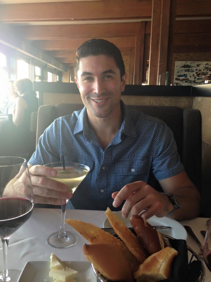 My handsome dinner date at Mastro's Ocean Club